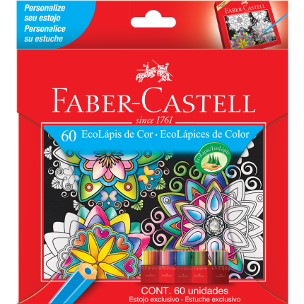 Lápis De Cor 60 Cores Faber-Castell Ecolápis