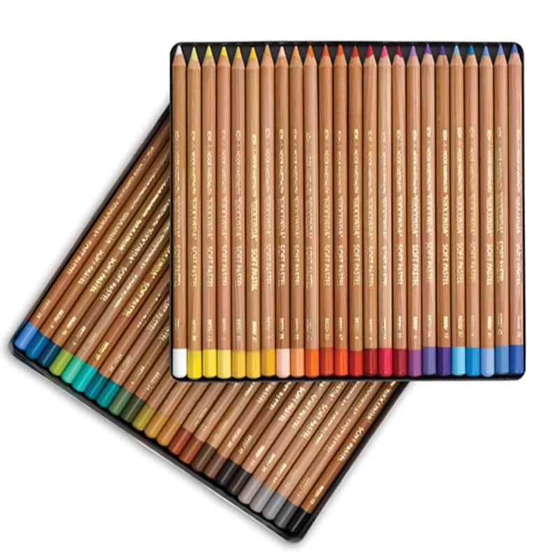 Lápis Pastel Gioconda C/48 Cores Koh-I-Noor Estojo Metálico