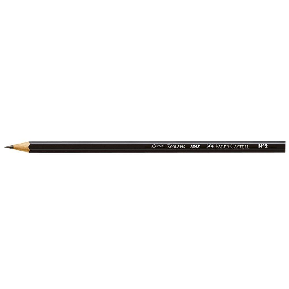 Lápis Preto Max Faber-Castell Nº2 Caixa com 12 Unidades