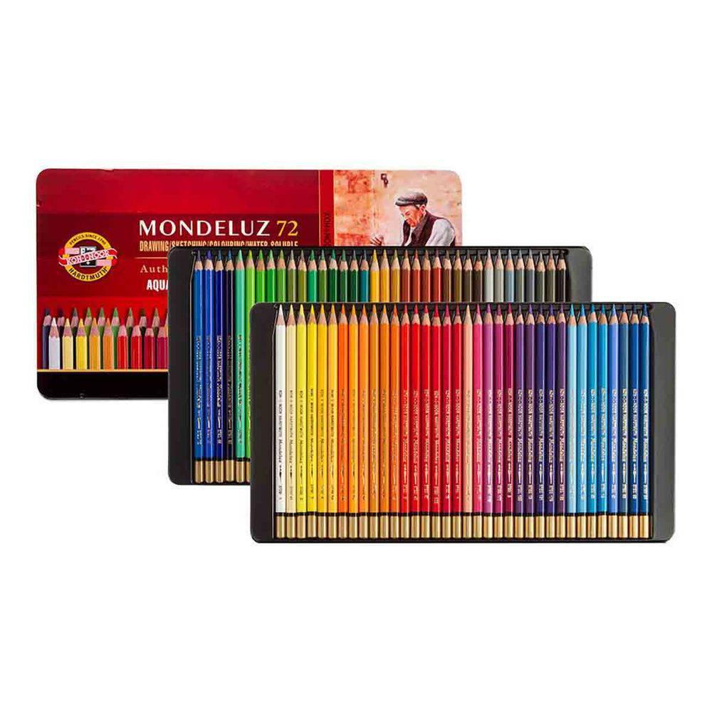 Lápis Profissional 72 Cores Aquarelavel Mondeluz Koh-i-noor
