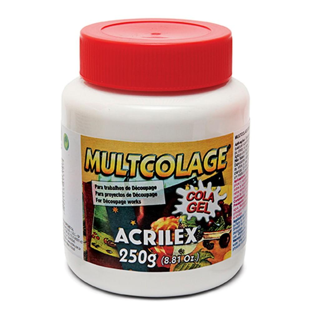Multicolage Cola Gel Para Découpage 120g Acrilex
