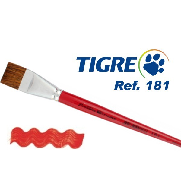 Pincel Chato Pêlo Orelha de Boi Ref. 181 Tigre