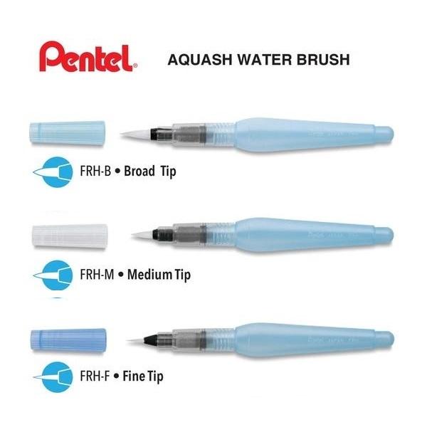 Pincel Com Reservatório De Água Aquash Brush Pentel Unidade