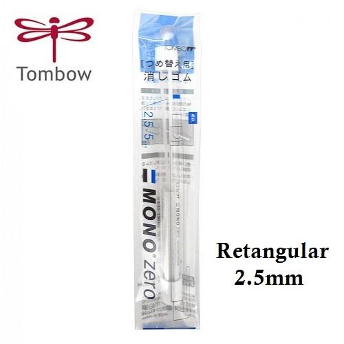 Refil Borracha Mecânica Mono Zero 2.5mm Retangular c/2 Tombow