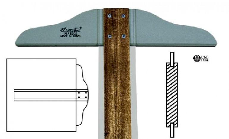Régua T Madeira C/ Borda Acriica 50cm Fixa Trident 5305