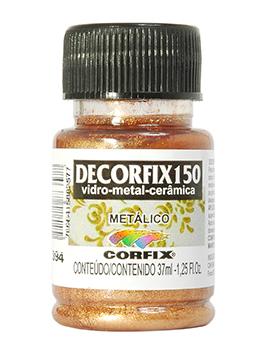Tinta Decorfix 150 Metálica 37ml p/ Cerâmica e Porcelana
