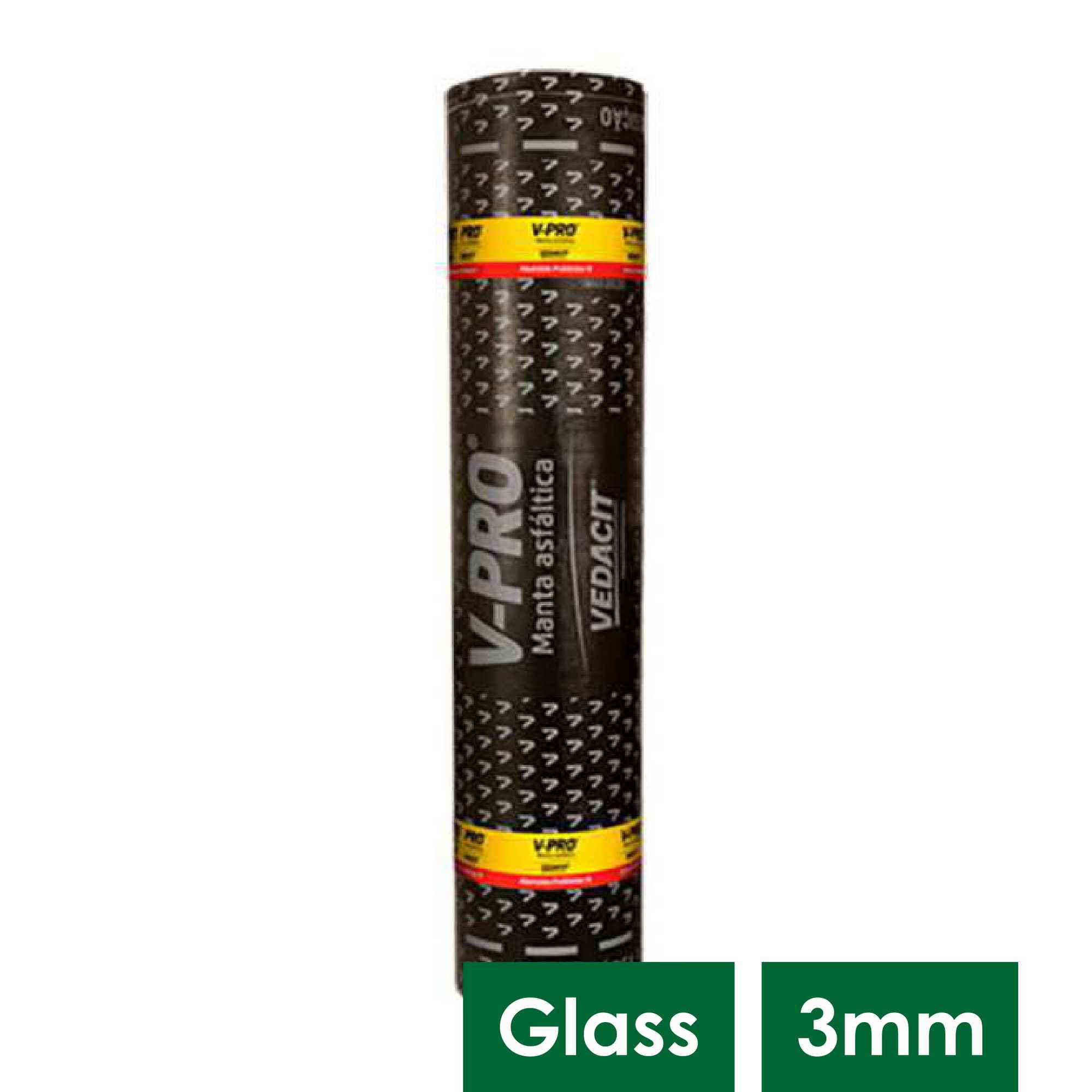 V PRO II B ALUMINIO GLASS 3 MM RL 10 M2