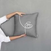 Almofada Face New Grey | 50x50cm