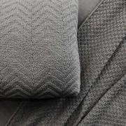 Almofada Tricô Chevron Cinza   55 x 55 cm