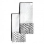 Dupla de Pano de Prato Branco e Cinza | 70 x 50 cm