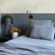 Travesseiro Tricô Cinza 90x50cm