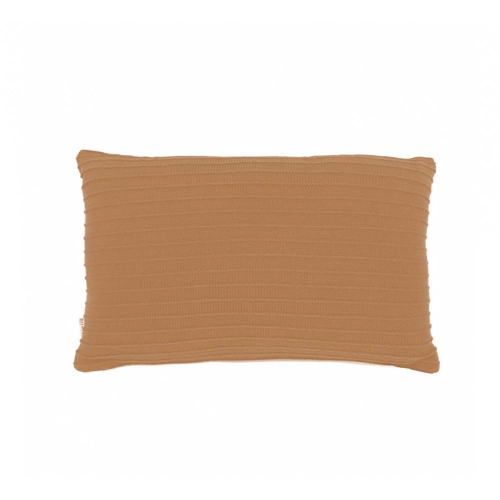 Almofada Baguete Tricô Listra| 50 x 30 cm