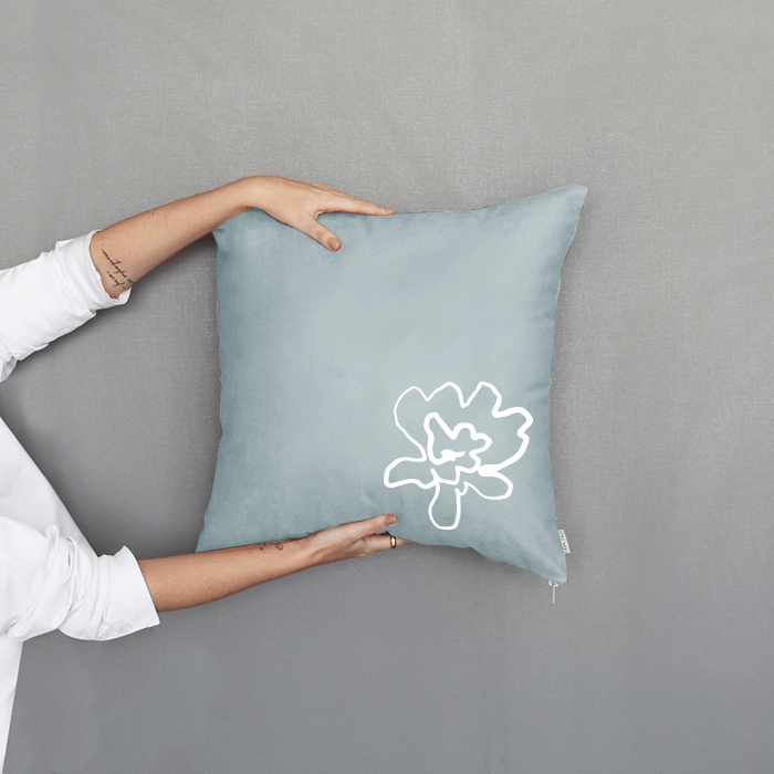 Almofada Florescer Verde Claro | 50 x 50 cm