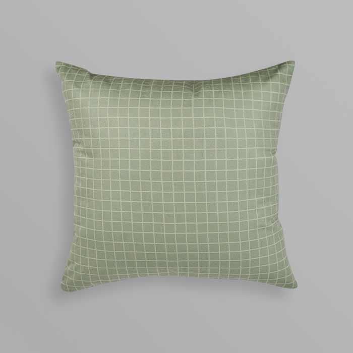 Almofada Quadra Verde Clara| 50x50cm