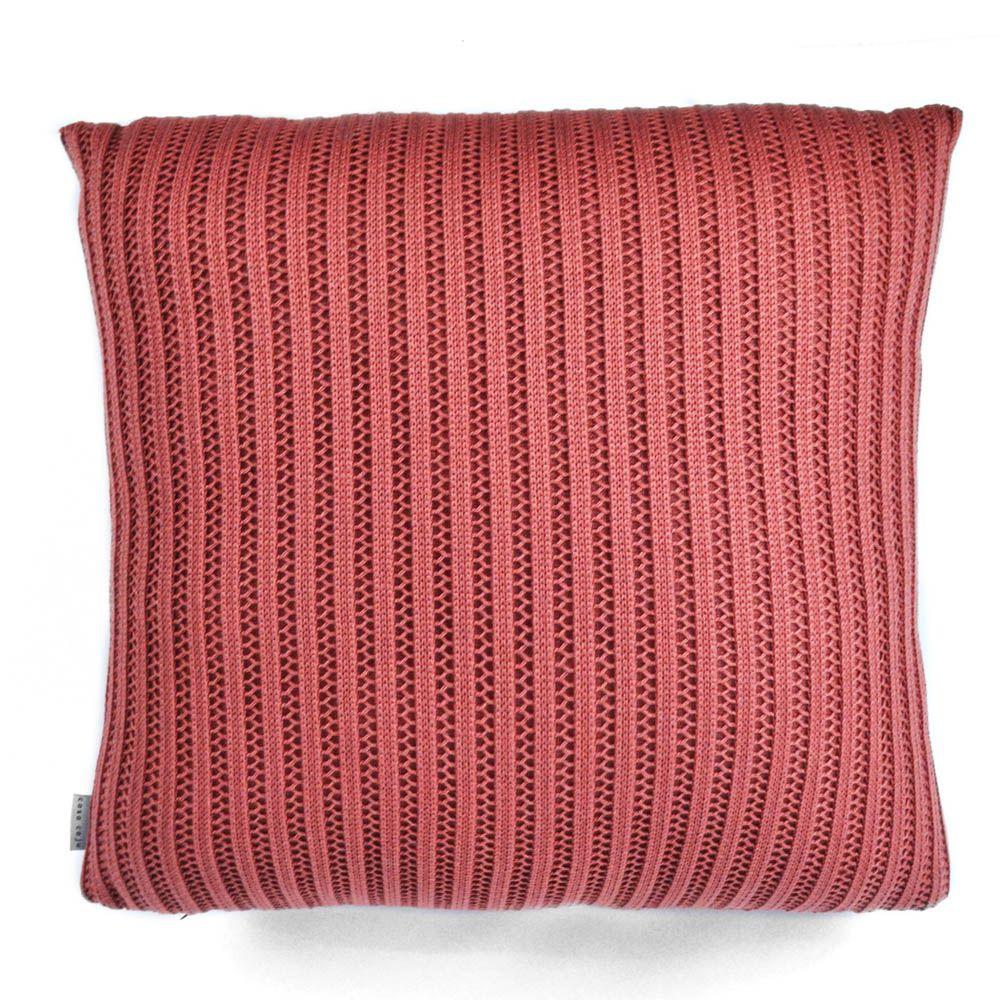 Almofada Tricô Rosa | 55 x 55 cm