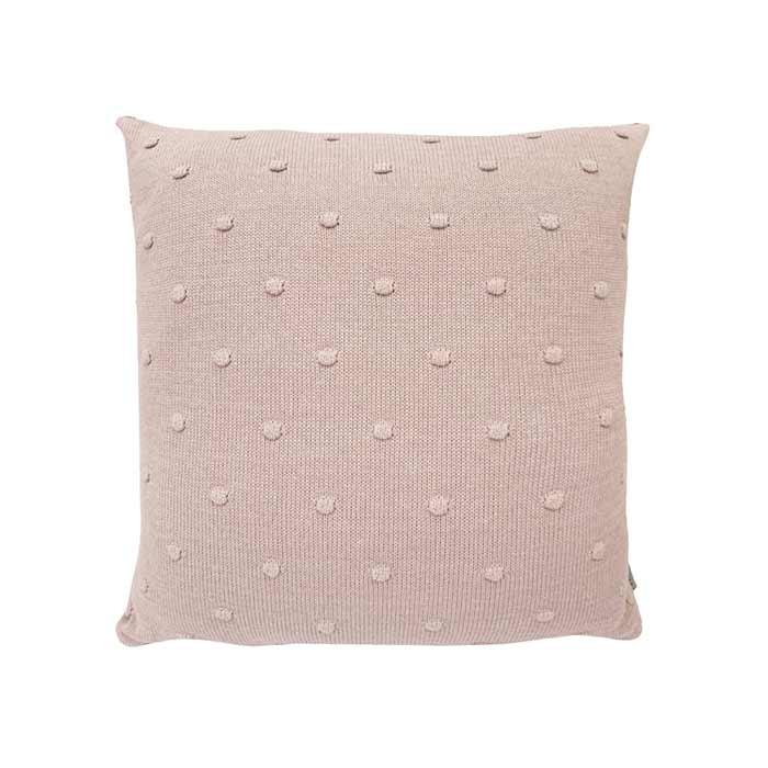 Almofada Tricô Poá Rosa Una | 55 x 55 cm
