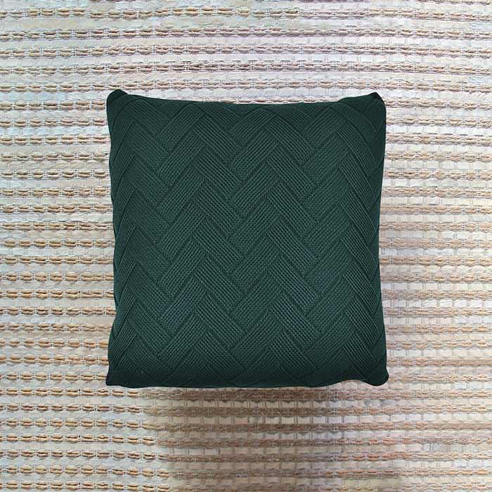 Almofada Tricô Tijolinho | 55 x 55 cm