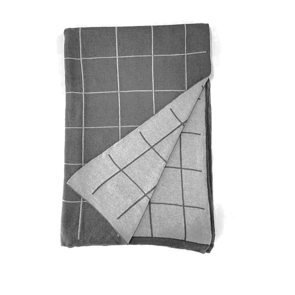 Manta Grid Cinza | 220 x 110 cm