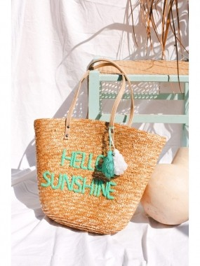 Bolsa de Palha Hello Sunshine