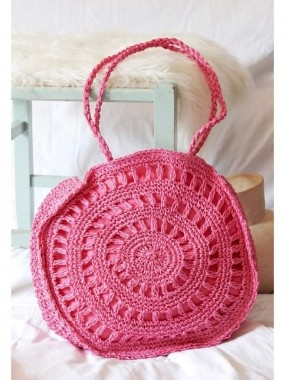 Bolsa de Palha Mariza Pink
