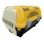 Caixa De Transporte Cães Gatos Coelho Pequeno Nº1 8Kg Amarelo