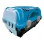 Caixa Transporte Para Gatos Coelho Cão Pequeno Nº1 Azul