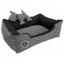 São Pet - Cama Rubi Black White Relex Para Cães Tam. P 42x55x17cm