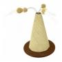 São Pet - Arranhador Cone Spire Bolinhas Gatos Marrom e Sisal 37,5x45cm