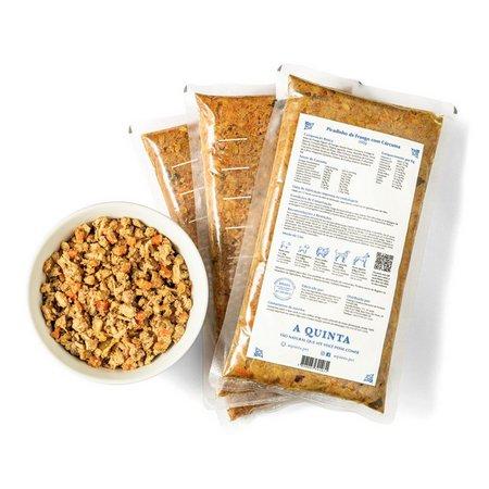 A Quinta - Alimentação Natural para Cães Picadinho de Frango com Cúrcuma 1 Kg