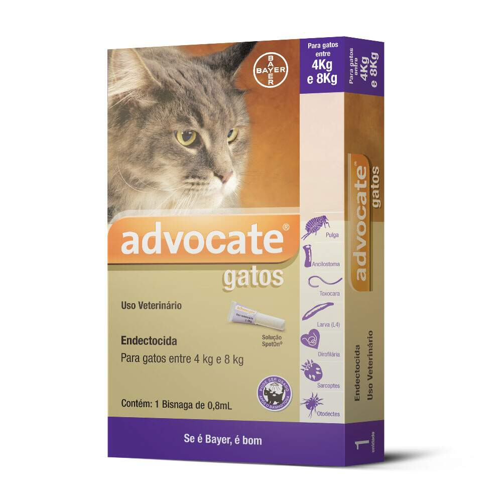 Advocate Bayer - Antipulga para Gatos 4-8kg