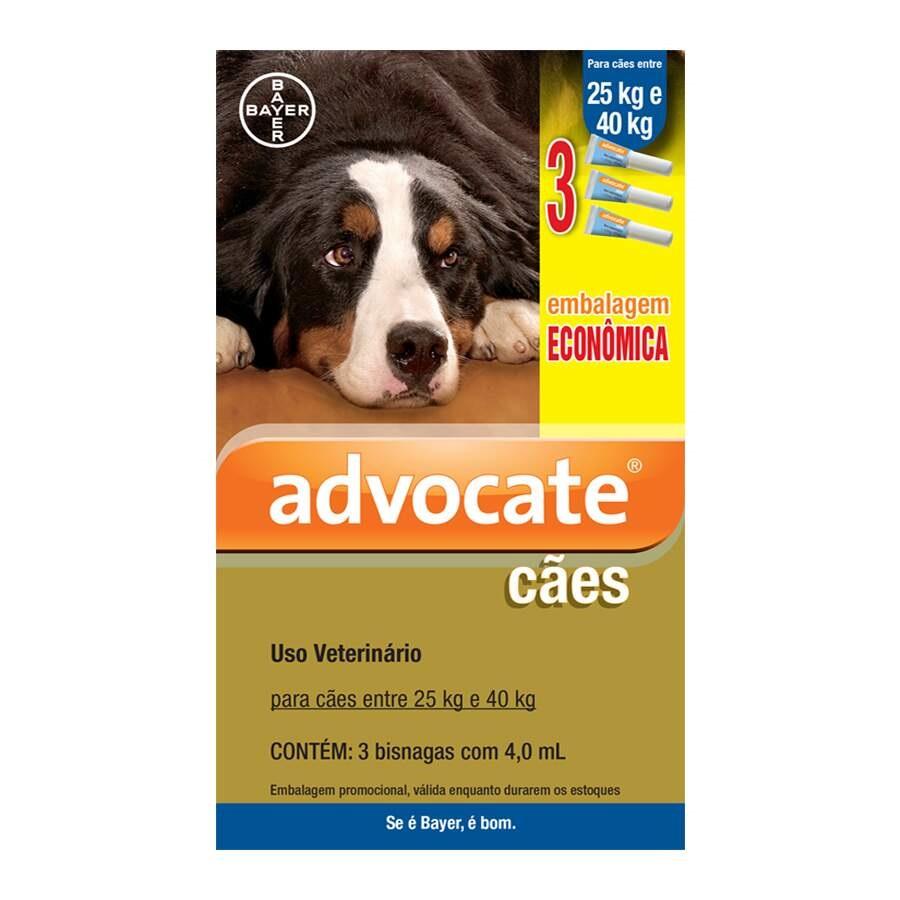 Advocate Bayer - Antipulgas para Cães 25-40Kg 3 Unidades
