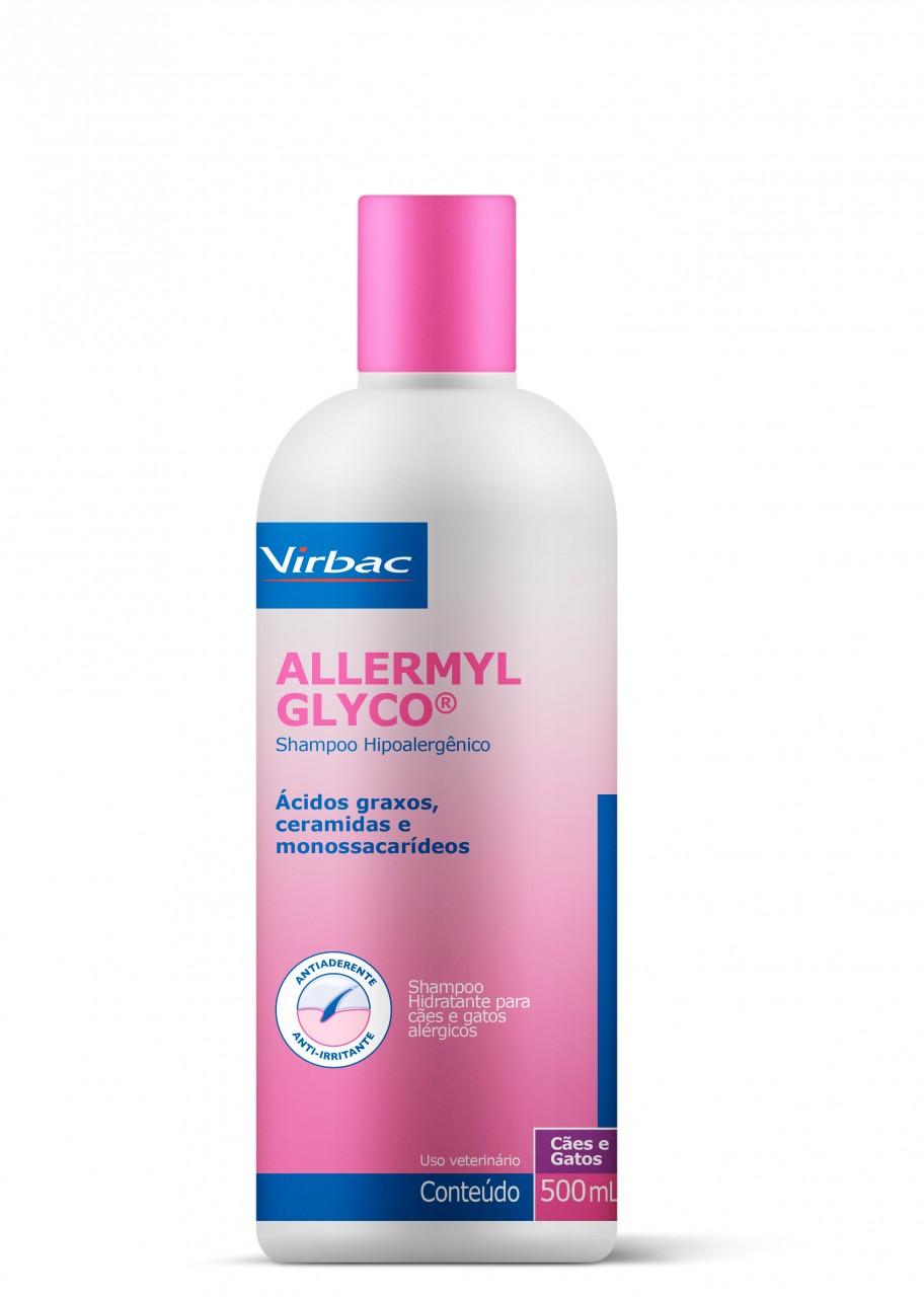 Allermyl® Glyco Virbac - Shampoo Dermatológico Cães Gatos 500ml