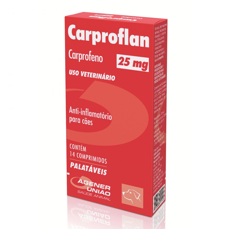 Anti-Inflamatório Carproflan 25mg 14 Comprimidos
