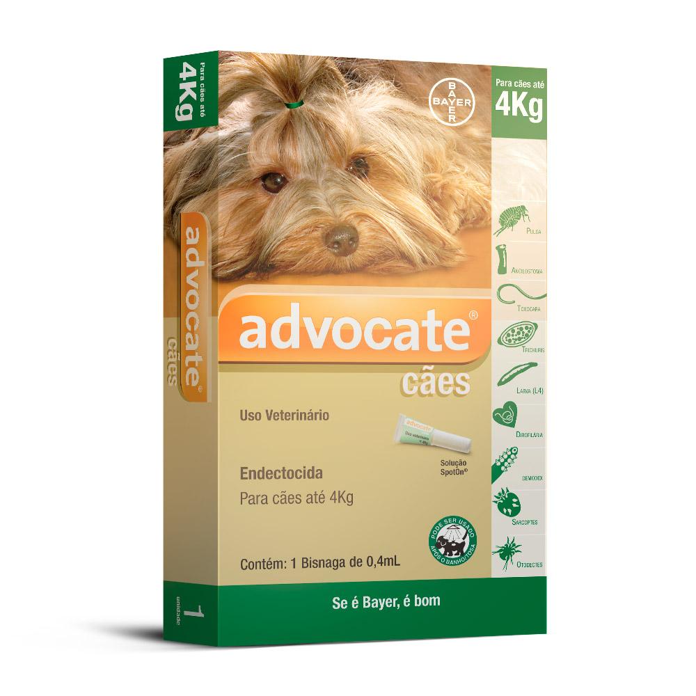 Antii Pulgas Cães Bayer Advocate 1-4Kg 1 Bisnaga