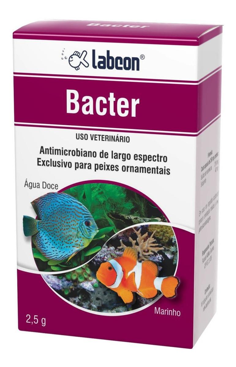 Antimicrobiano p/ Aquario Peixes Ornamentais Labcon Bacter 2,5g
