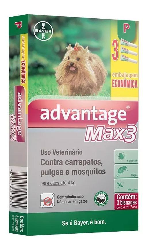 Antipulgas e Carrapatos Advantage Max3 01-04Kg 3Un