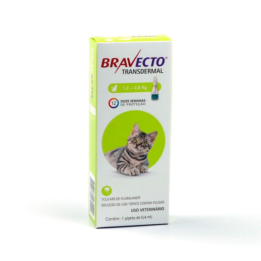 ANTIPULGAS E CARRAPATOS BRAVECTO COMPRIMIDOS 1,2-2,8KG