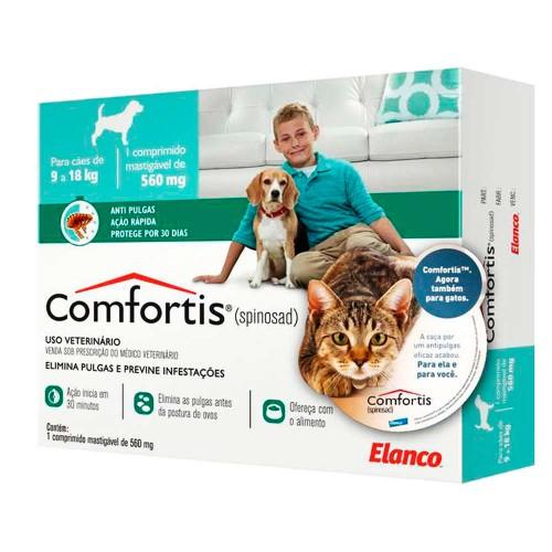 Antipulgas e Carrapatos Comfortis 560mg Cães Gatos