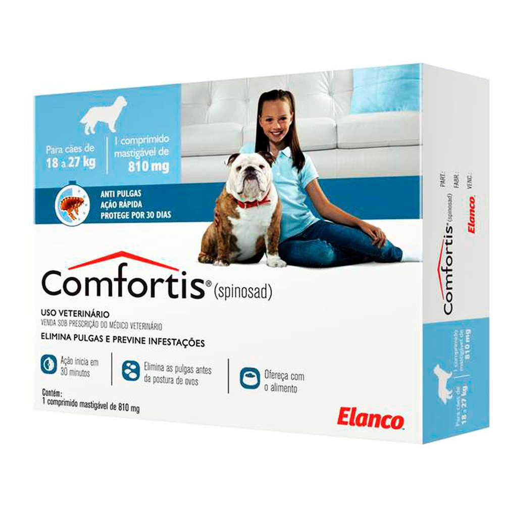 Antipulgas e Carrapatos Comfortis Azul 810mg Cães