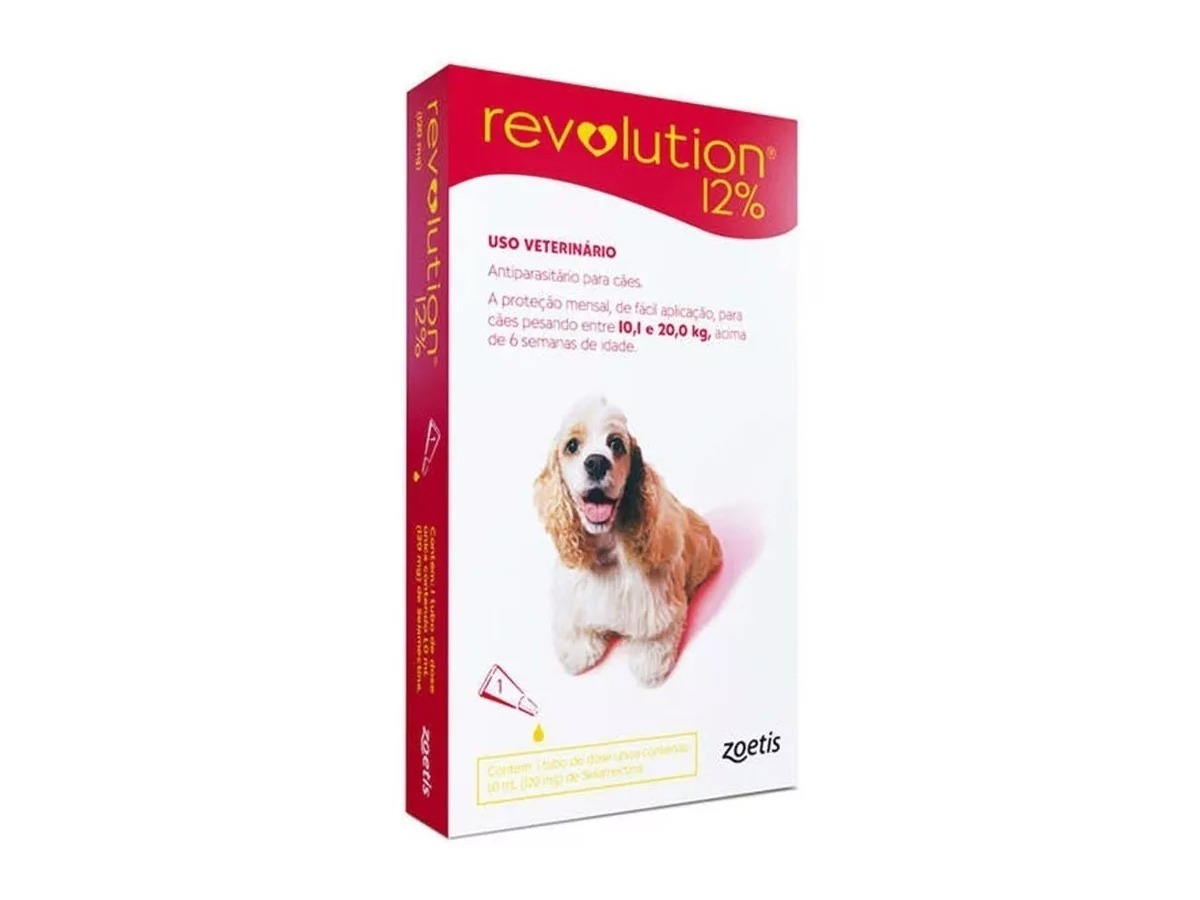Revolution 12% - Antipulgas para Cães 10 A 20kg