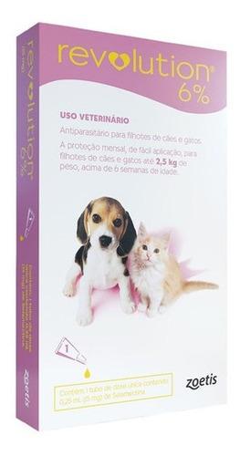 Revolution 6% - Antipulgas Cães e Gatos Até 2,5kg - 1 Pipeta