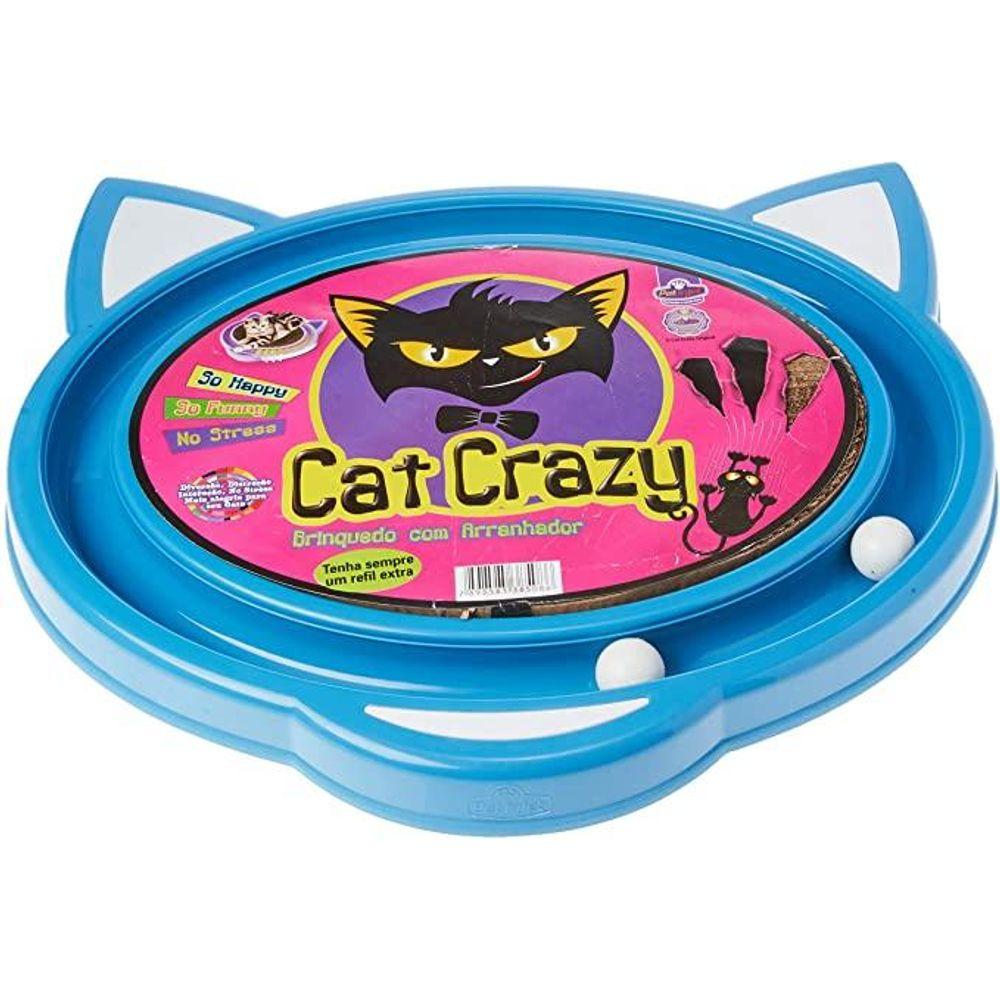 Arranhador Tapete Cat Crazy Brinquedo Para Gatos Azul