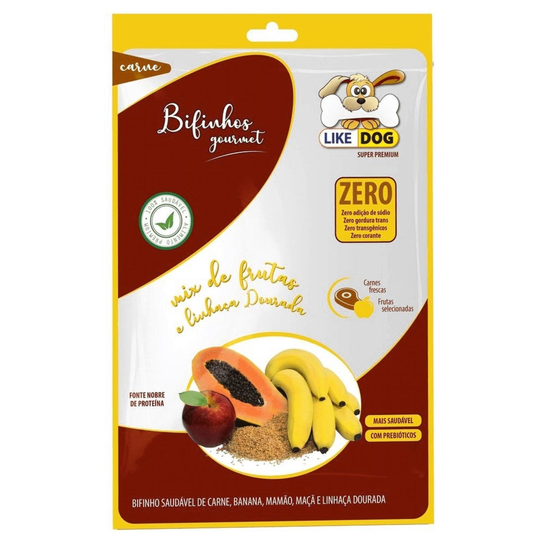 Bifinho Gourmet Like Dog Mix de Frutas e Linhaça Dourada - 65g