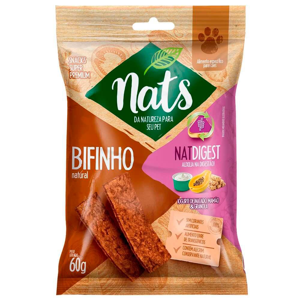 Bifinho Natural Nats Natdigest Iogurte Desnatado Mamão Granola - 60g