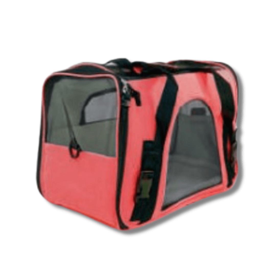 Bolsa de Transporte Cães Gatos Grande Vermelho com Alça