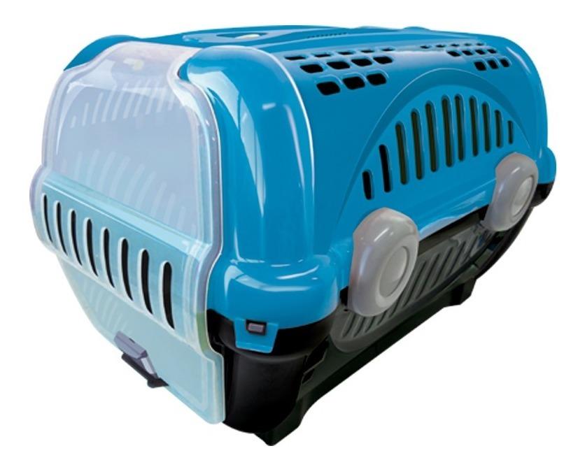 Caixa De Transporte Cães Gatos Coelho Pequeno Nº2 Azul