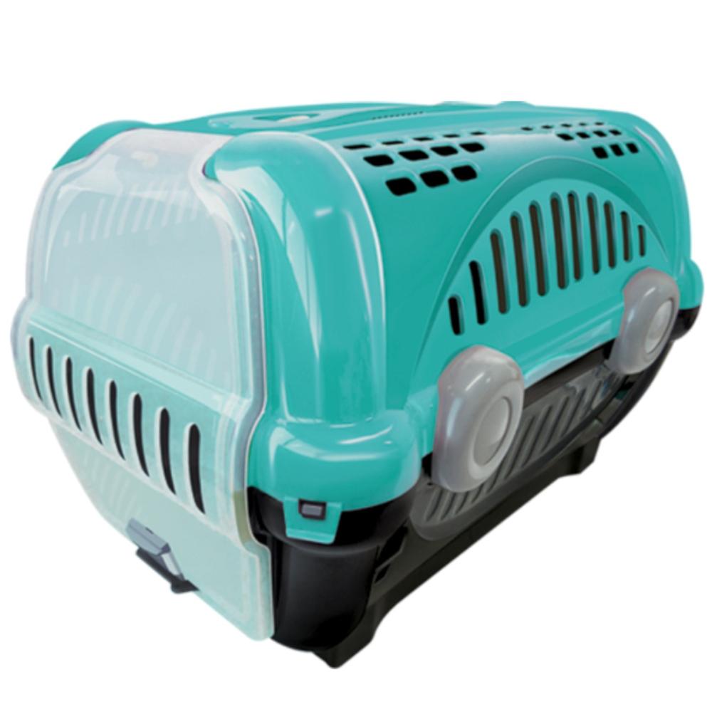 Caixa De Transporte Gatos Coelho Cães Pequeno Nº1 8Kg Verde