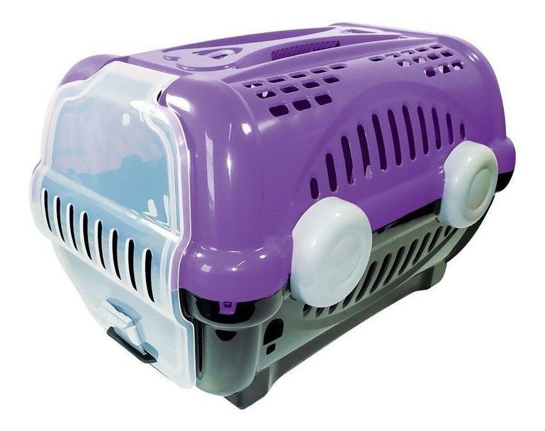 Caixa De Transporte Para Gatos Coelho Cão Pequeno Nº1 Lilas