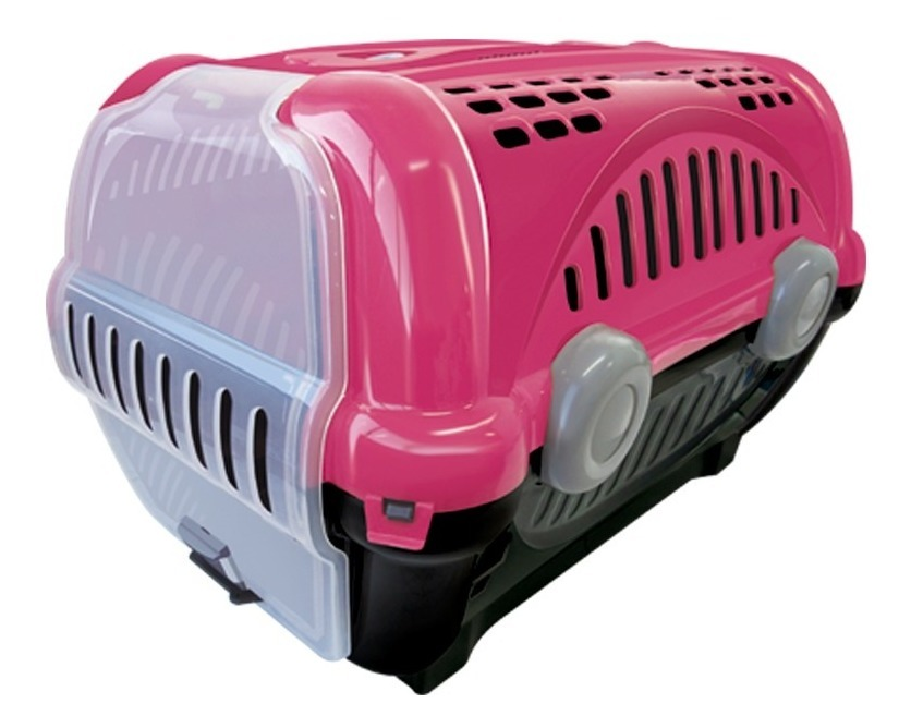 Caixa De Transporte Para Gatos Coelho Cão Pequeno Nº1 Rosa
