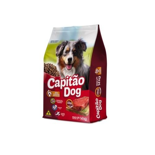 Capitão Dog - Ração Para Cães Adultos Carne 14Kg